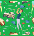 seamless pattern with sport at golf vector image vector image