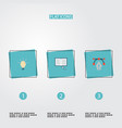 set of constructive icons flat style symbols with vector image vector image