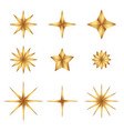 set of gold gradient luxury fashion shiny star vector image vector image
