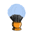 shaving brush vector image vector image