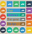 Shoe icon sign Set of twenty colored flat round vector image vector image