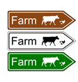 Sign farm vector image vector image