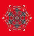 snowflake ornamental pattern snowflakes vector image vector image