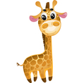 soft toys - baby giraffe vector image vector image