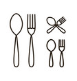 spoon and fork icon or logo restaurant menu vector image