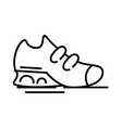 sportive shoes line icon concept sign outline vector image vector image