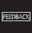 stamp word feedback vector image