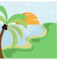 summer beach on seaside design vector image