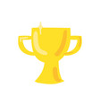 trophy cup flat color vector image vector image