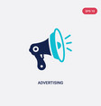 two color advertising icon from digital economy vector image