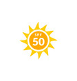 uv radiation sun block icon solar ultraviolet uv vector image vector image