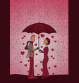 valentines day cards with hearts woman and man vector image