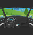 vehicle salon driver view dashboard control in a vector image