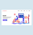 web site gradient design template vector image