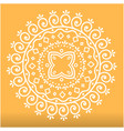 white abstract lotus mandala orange background vec vector image vector image