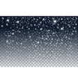 winter falling snow isolated on transparent vector image vector image