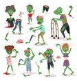 zombie scary cartoon people character halloween vector image vector image