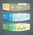 Banners colorful paper cut nfographic design vector image