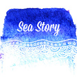 watercolor card with sea waves vector image
