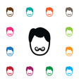 isolated whiskers icon hairstyle element vector image