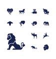 13 mammal icons vector image vector image