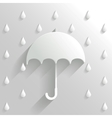 Abstract Umbrella on White Background vector image vector image