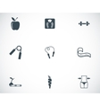 black diet icons set vector image vector image