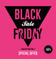 black friday sale banner with discount design vector image vector image