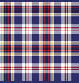 blue tartan plaid seamless fabric texture vector image vector image