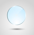 Blue transparent glass circle banner vector image