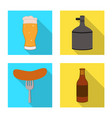 brewery and brewing icon vector image