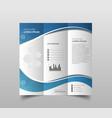 business brochure flyer design leaflets 3 fold vector image vector image