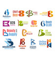 business icons letter b corporate identity vector image vector image