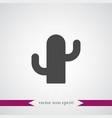 cactus icon simple vector image vector image