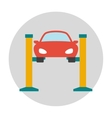 Car lifting flat icon vector image vector image