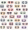 cartoon eyes colors vector image vector image