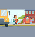 children go to school background back vector image vector image