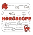 Chinese Zodiac banner vector image vector image