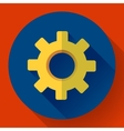 Cogwheel Icon Develop symbol Flat design style vector image vector image