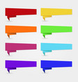 colorful banners and ribbons set vector image vector image