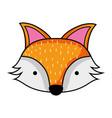cute fox head wild animal vector image vector image
