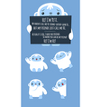 Cute Yeti set vector image vector image