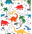 dino world - brights vector image vector image