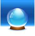 Empty transparent snow globe vector image