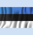 estonia realistic waving flag national country vector image