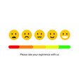 feedback or quality control rating mood vector image