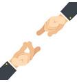 finger snap hand gesture attract flat design vector image