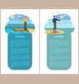 fishing poster with headlines vector image