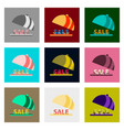 flat assembly icons of sale percent dish vector image vector image