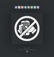 forbidden smartphone icon vector image